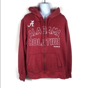 Hurley X Alabama Roll Tide Zip Up Jacket so Large